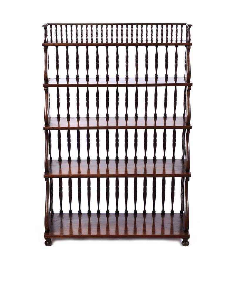 ROSEWOOD OPEN BOOKCASE - Image 4 of 6