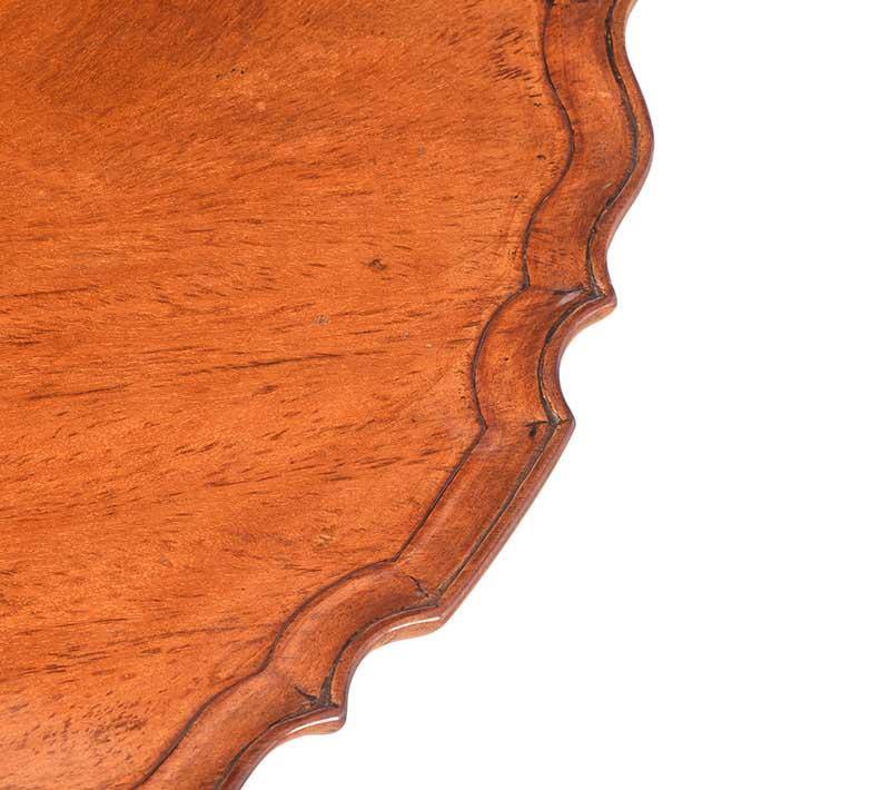 MAHOGANY SNAP TOP LAMP TABLE - Image 5 of 9