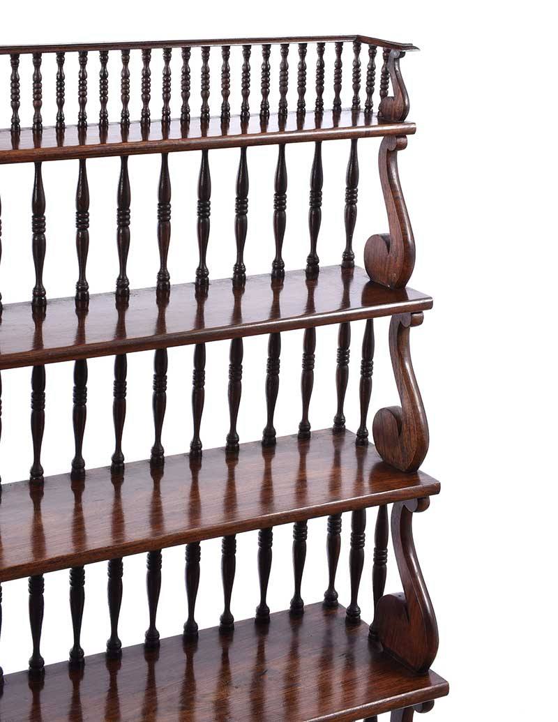 ROSEWOOD OPEN BOOKCASE - Image 2 of 6
