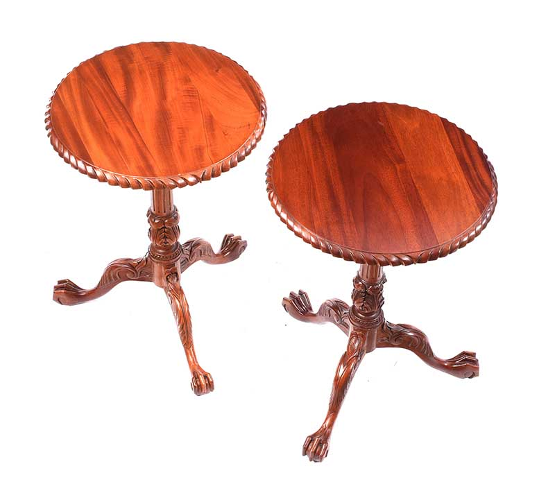 PAIR OF MAHOGANY WINE TABLES - Image 2 of 3
