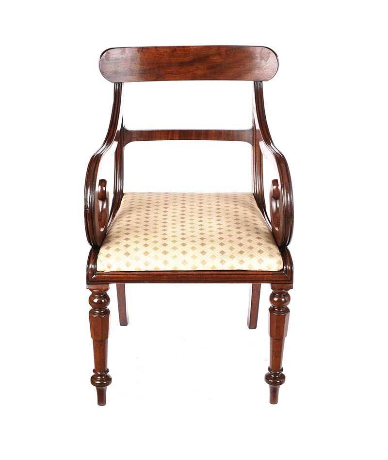 REGENCY MAHOGANY ARMCHAIR - Image 4 of 6