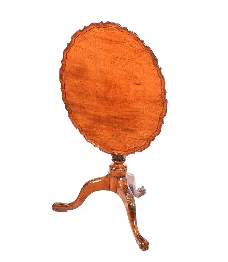 MAHOGANY SNAP TOP LAMP TABLE - Image 7 of 9