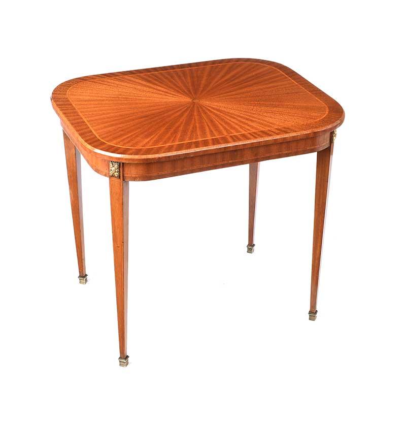 EDWARDIAN SATIN WOOD LAMP TABLE
