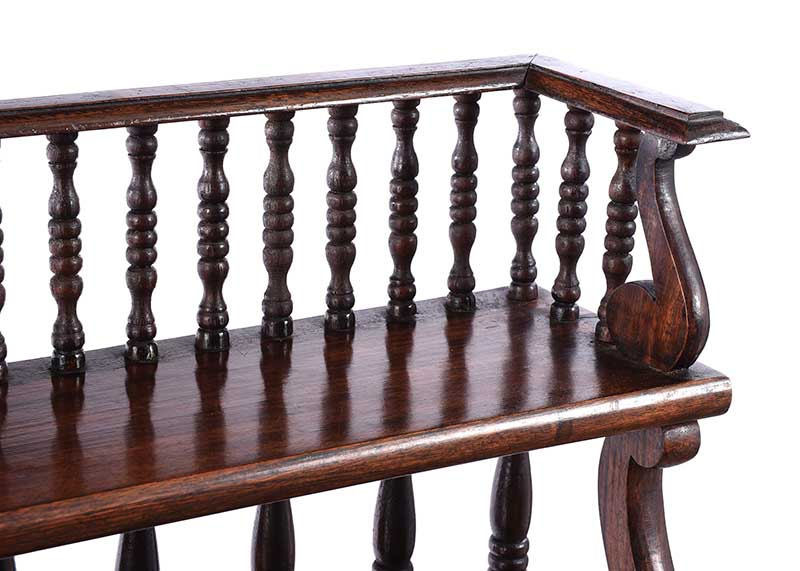 ROSEWOOD OPEN BOOKCASE - Image 3 of 6