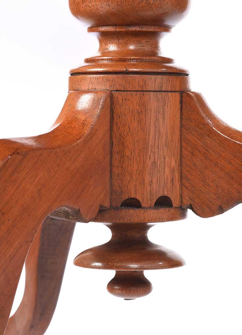 VICTORIAN MAHOGANY LAMP TABLE - Image 4 of 6