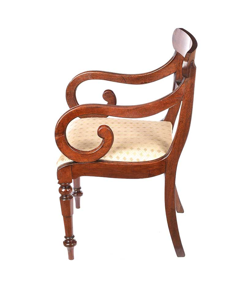 REGENCY MAHOGANY ARMCHAIR - Image 5 of 6