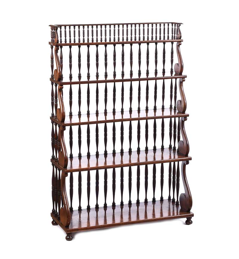 Lot 51 - ROSEWOOD OPEN BOOKCASE