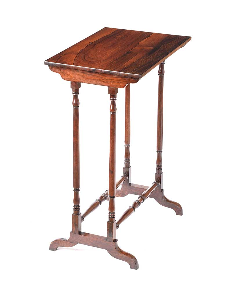 ANTIQUE ROSEWOOD LAMP TABLE - Image 6 of 6