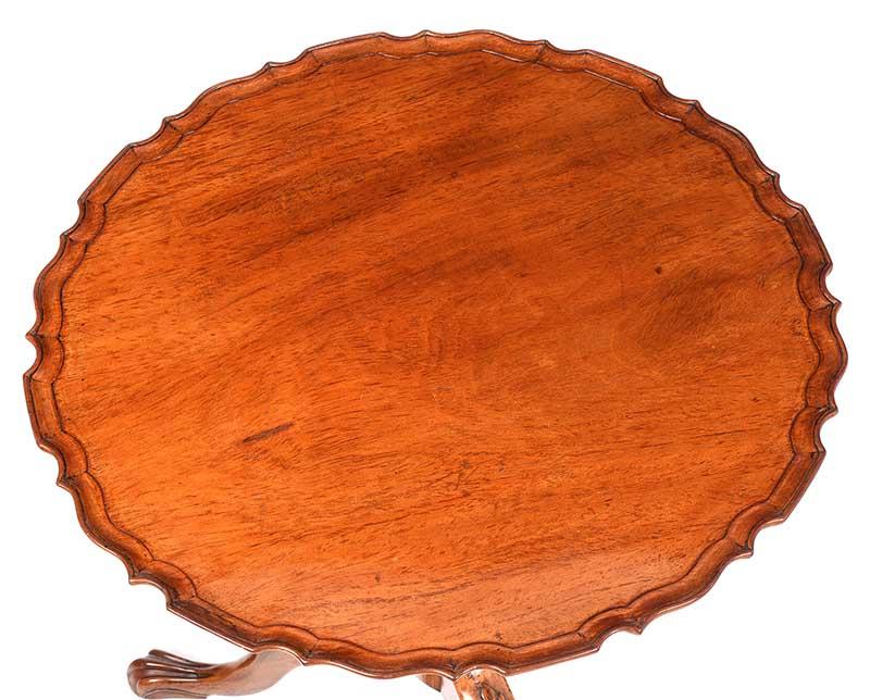 MAHOGANY SNAP TOP LAMP TABLE - Image 4 of 9