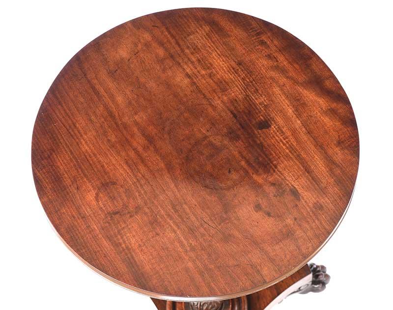 REGENCY ROSEWOOD LAMP TABLE - Image 7 of 7