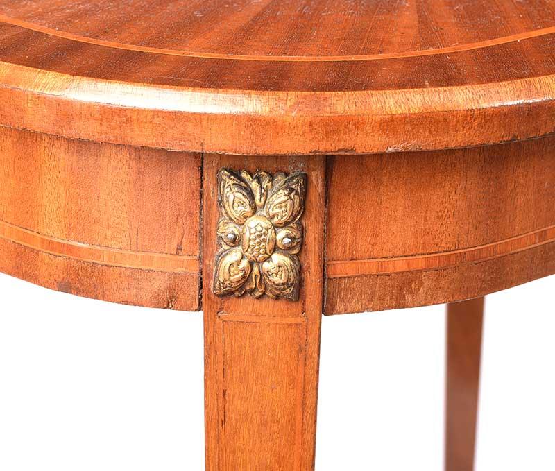 EDWARDIAN SATIN WOOD LAMP TABLE - Image 3 of 7