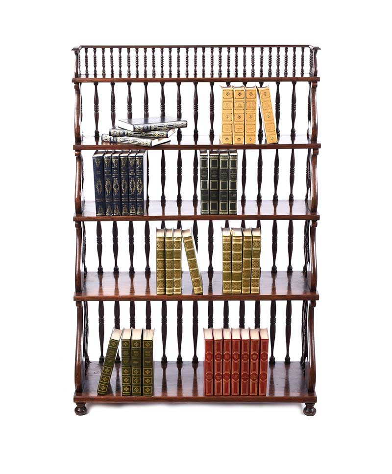 ROSEWOOD OPEN BOOKCASE - Image 6 of 6