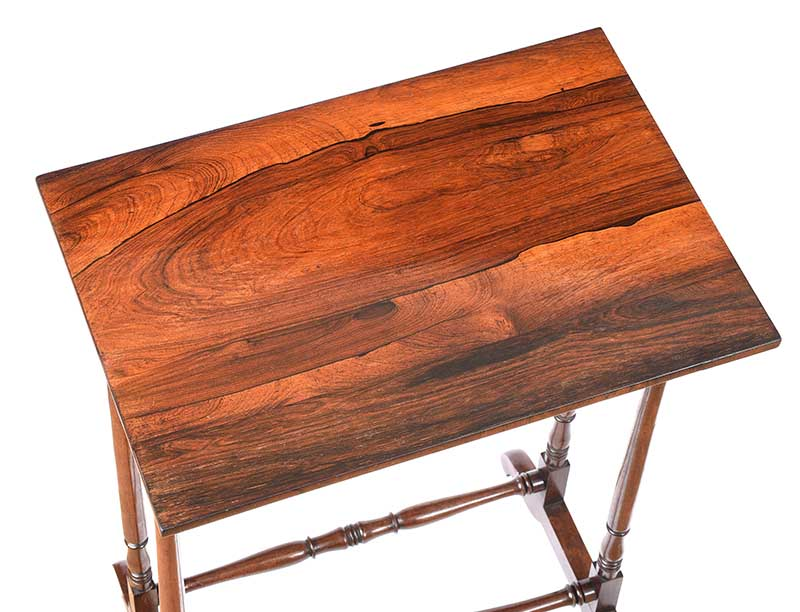ANTIQUE ROSEWOOD LAMP TABLE - Image 4 of 6