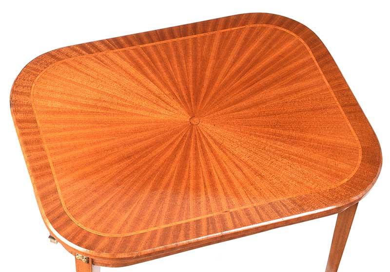 EDWARDIAN SATIN WOOD LAMP TABLE - Image 6 of 7