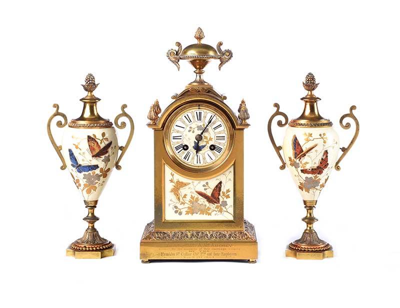 VICTORIAN CLOCK SET