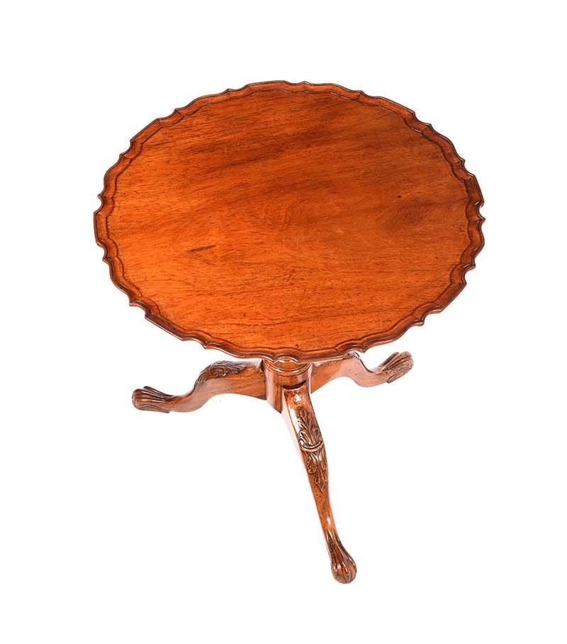 MAHOGANY SNAP TOP LAMP TABLE - Image 3 of 9
