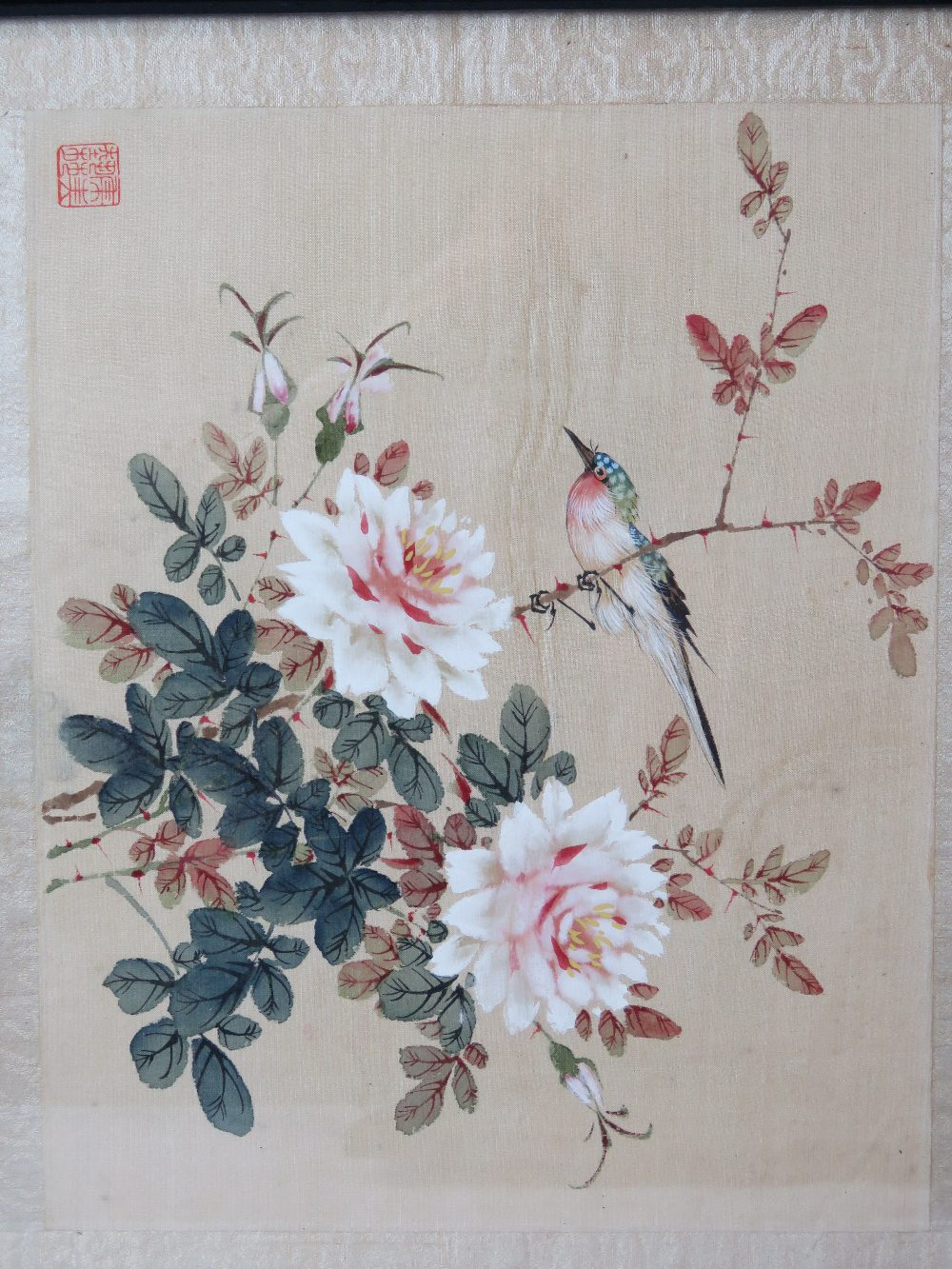Lot 813 - Two pairs of early 20thC Chinese paintin