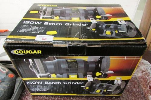 Lot 56 - COUGAR 150 WATT BENCH GRINDER (AS NEW IN BOX)