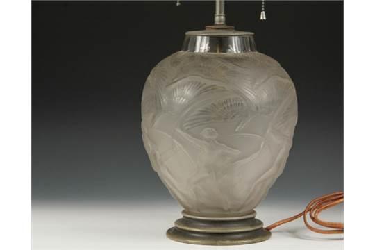 Lalique Crystal Vase As A Table Lamp Rene Lalique Archers