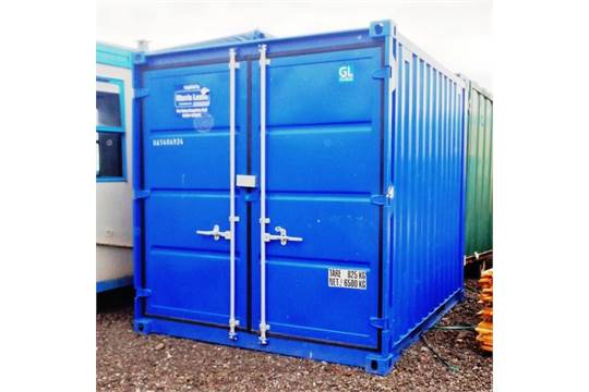 10'X8'STEEL STORAGE CONTAINER C/W LIFTING EYES, FORKLIFT