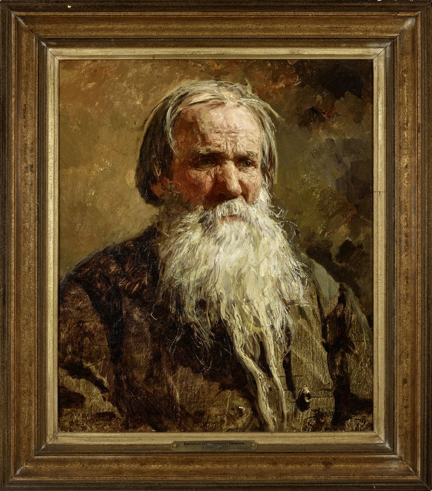 Vasily Dmitrievich Polenov (1844-1927) - Portrait of the Russian folk singer Vasily [...] - Bild 2 aus 2