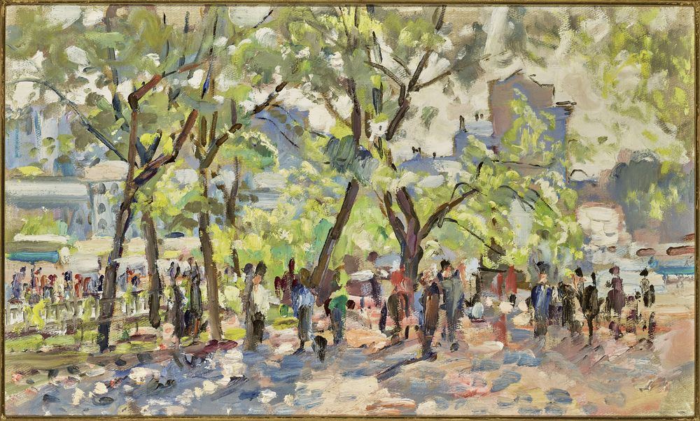 Grigoriev Vasiliy (1895-1982) - Souvorovsky bd, Moscow Oil on cardboard 44.5 x 74.5 [...]