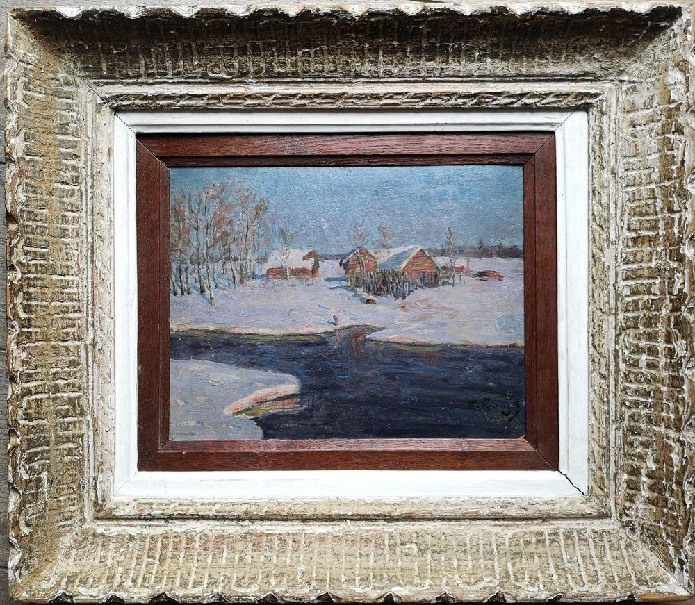 Nicolaj Dmitrievic KUZNETSOV (1850-1929) - Sunrise in a snowy countryside signed [...] - Bild 2 aus 2