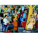 TATYANA NAZARENKO - Flee market in Switzerland Signed in Cyrillic 'T [...]