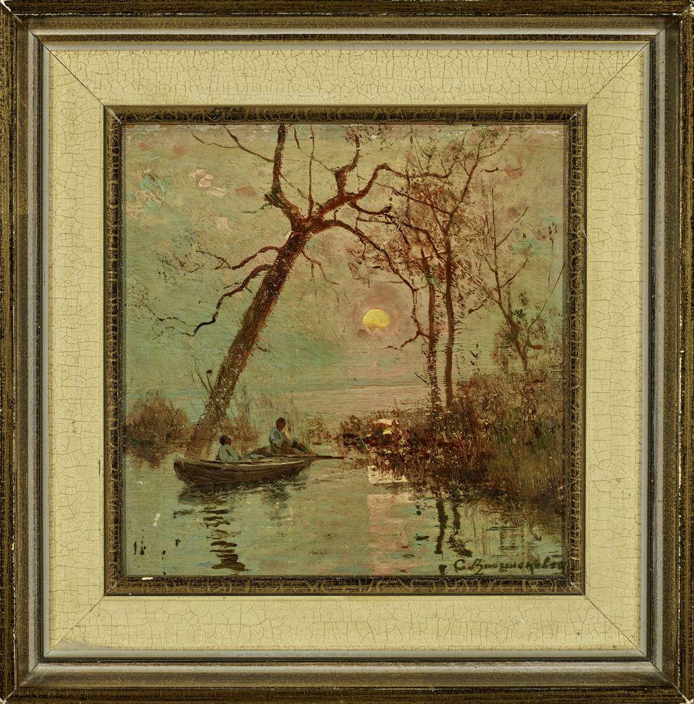 Sergey Ivanovich Vasilkovsky (1854-1917) - Sunset on the Dnieper Signed in Cyrillic [...] - Bild 2 aus 2
