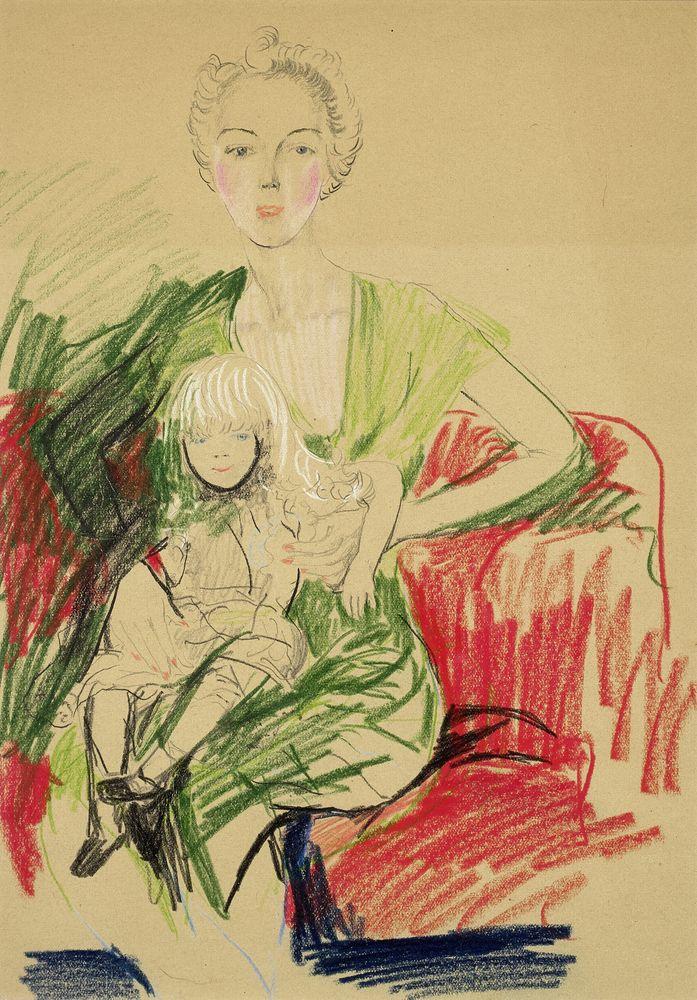 FILIPP MALYAVIN (1869-1940) - Five Female Portraits Each signed pencil, crayon on [...] - Bild 4 aus 5