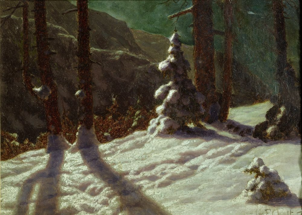 IVAN FEDOROVICH CHOULTSE (1874 - 1939) - Winter in the forest. 1925 Signed and [...]
