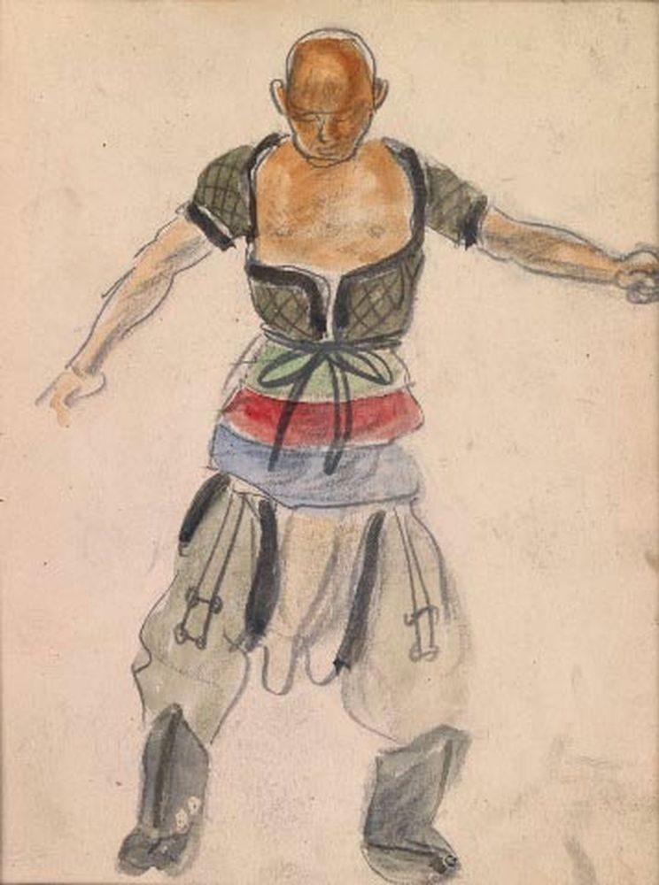 ALEXANDER YAKOVLEV (1887-1938) - Two sketches of Chinese Wrestlers Each variously [...]