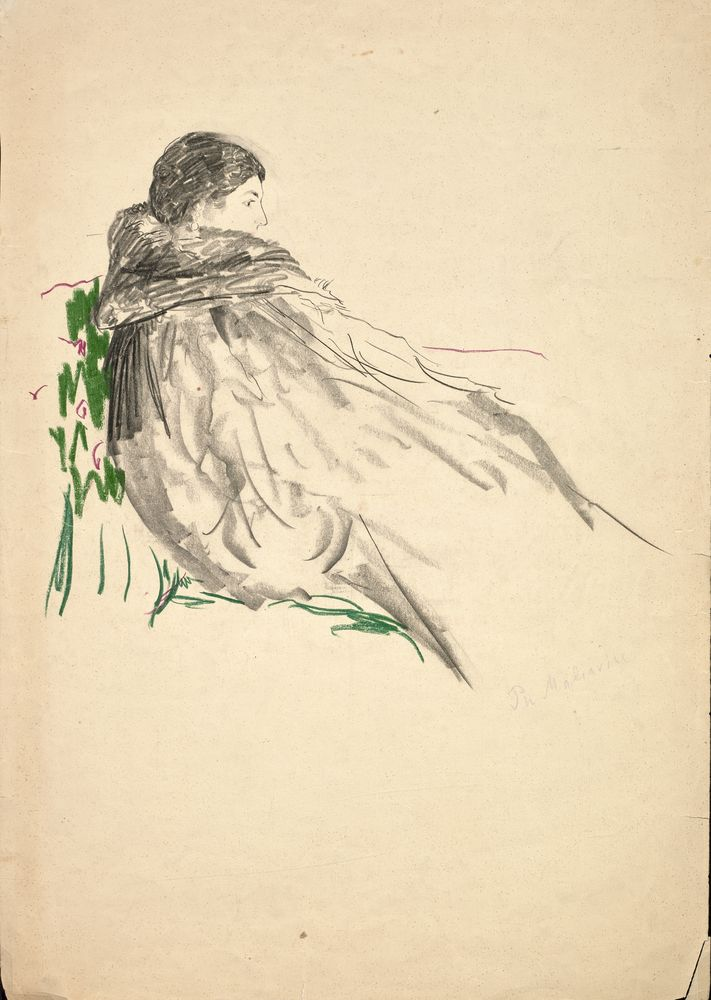 FILIPP MALYAVIN (1869-1940) - Five Female Portraits pencil, crayon on paper, [...] - Bild 4 aus 5