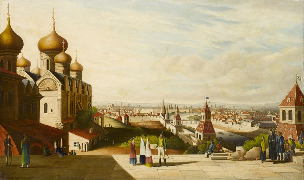 After Gérard de la Barthe (1730-1810), early XIX c. - View Of Moscow signed with [...]