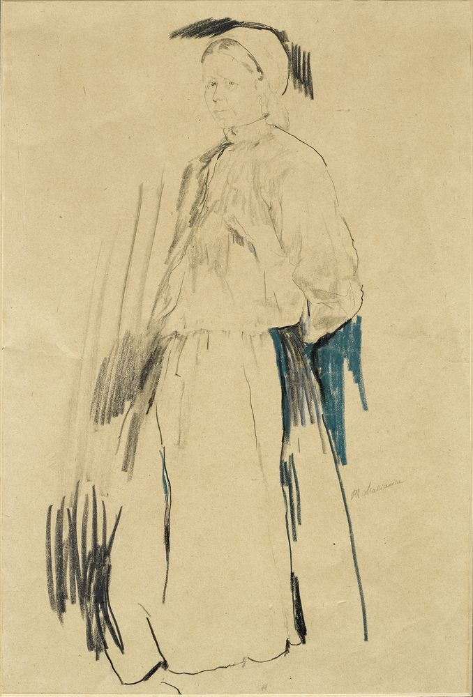 FILIPP MALYAVIN (1869-1940) - Five Female Portraits Each signed pencil, crayon on [...] - Bild 2 aus 5