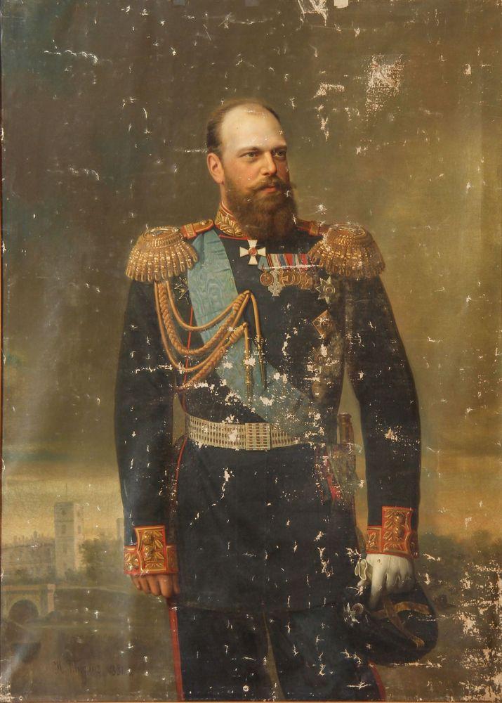 TYURIN IVAN ALEXEEVITCH (1824-1904/1905) - Portrait of Alexander III of Russia with [...]