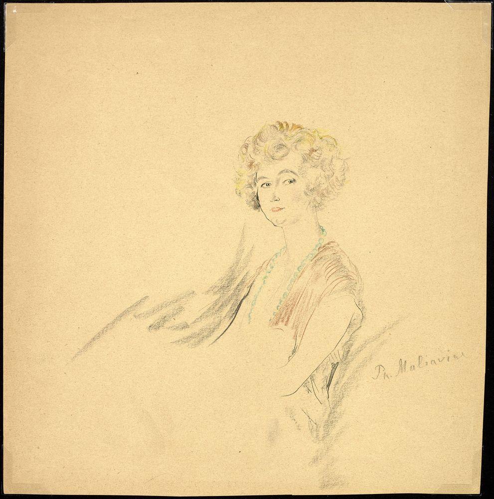 FILIPP MALYAVIN (1869-1940) - Five Female Portraits Each signed pencil, crayon on [...] - Bild 5 aus 5