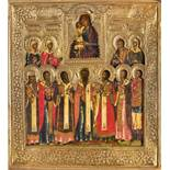 """A Russian icon """"Seeking Out the Lost"""" in a silver oklad Russia, early XIX century. [...]"""