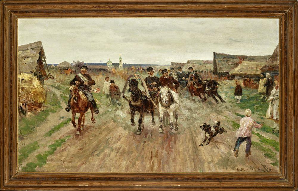Sergey Semyonovich Voroshilov (1865 - after 1911) - Wedding procession of troikas [...] - Bild 2 aus 2