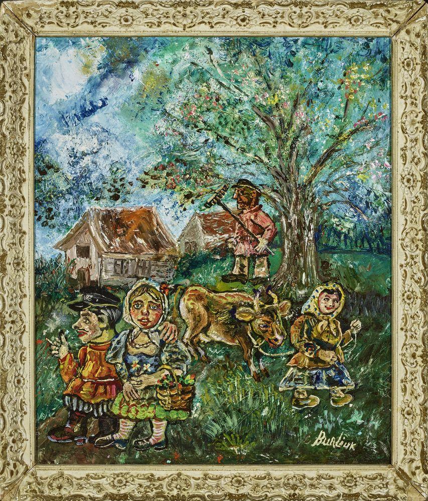 David Burliuk (1882 – 1967) - Russian peasants in spring signed 'Burlyuk' (lower [...] - Bild 2 aus 2
