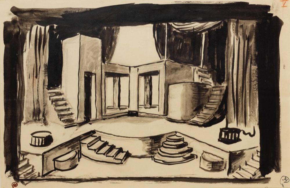MSTISLAV DOBUZHINSKY (1875 - 1957) - Stage design for 'The Tragedie of [...]