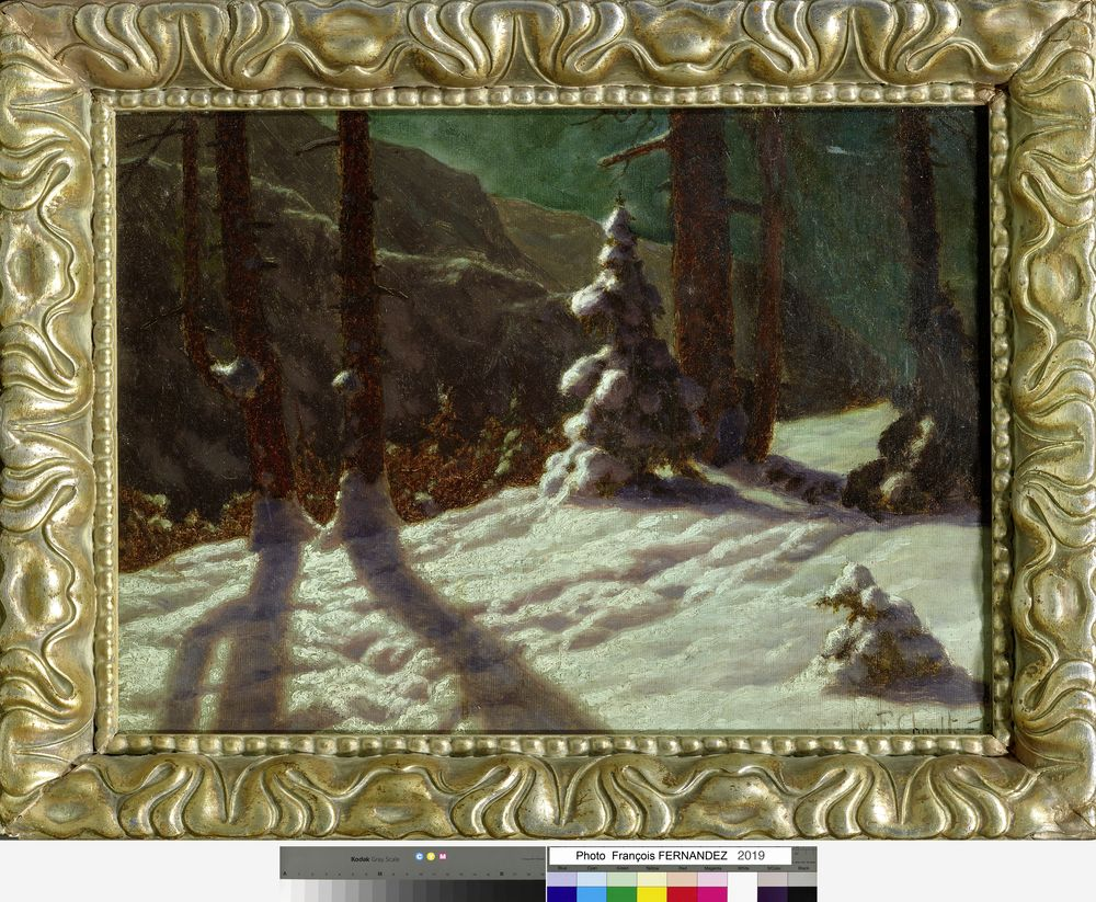 IVAN FEDOROVICH CHOULTSE (1874 - 1939) - Winter in the forest. 1925 Signed and [...] - Bild 2 aus 2