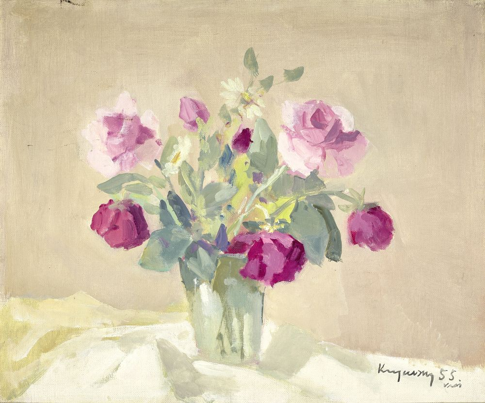 Nicholas (Mykola Vasyl) KRYCHEVSKY (1898-1961) - Bouquet of roses Signed and dated [...]