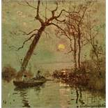 Sergey Ivanovich Vasilkovsky (1854-1917) - Sunset on the Dnieper Signed in Cyrillic [...]