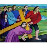 TATYANA NAZARENKO - Carrying the Cross Signed in Cyrillic 'T Nazarenko'(lower [...]