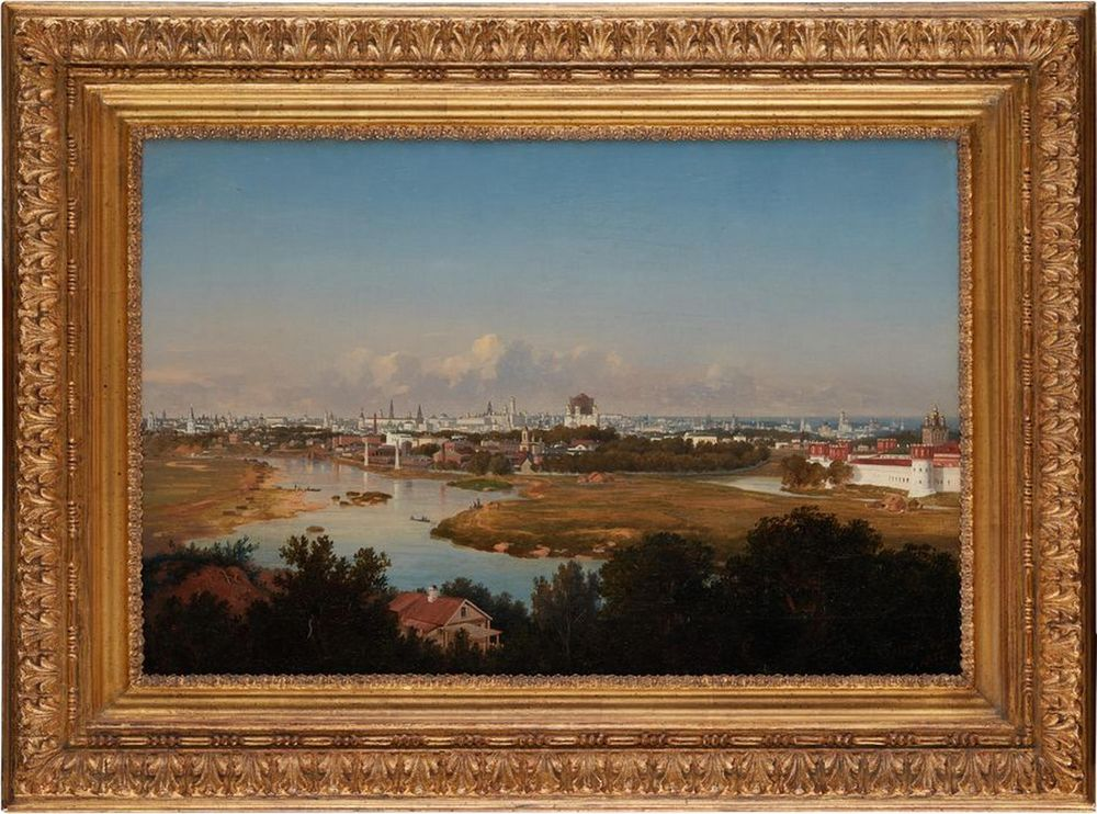 VLADIMIR FEDOROVICH AMMON (1826-1879) - View of Moscow from Vorobyovy Gory Signed [...] - Bild 2 aus 3