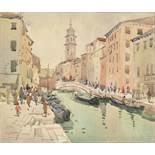 Mykola Vasyl KRYCHEVSKY (1898-1961) - View of a Venetian Canal in spring signed, [...]