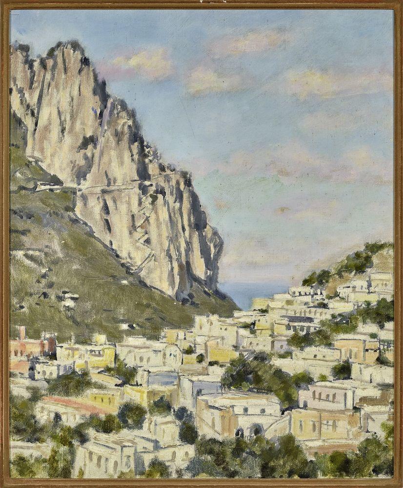 Leonid Romanovich Sologub (1884-1956) - Mediterranean Seascape Signed (on the [...]