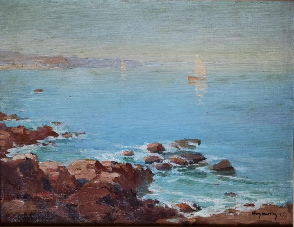 Mykola Vasyl KRYCHEVSKY (1898-1961) - White 'Sailboats At Sea, 1945 signed and [...]