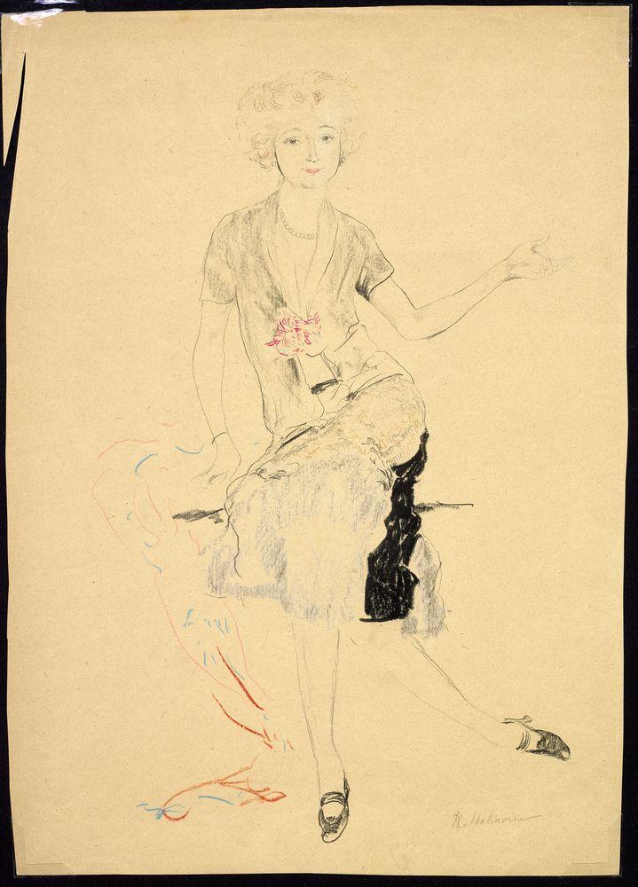 FILIPP MALYAVIN (1869-1940) - Five Female Portraits Each signed pencil, crayon on [...]